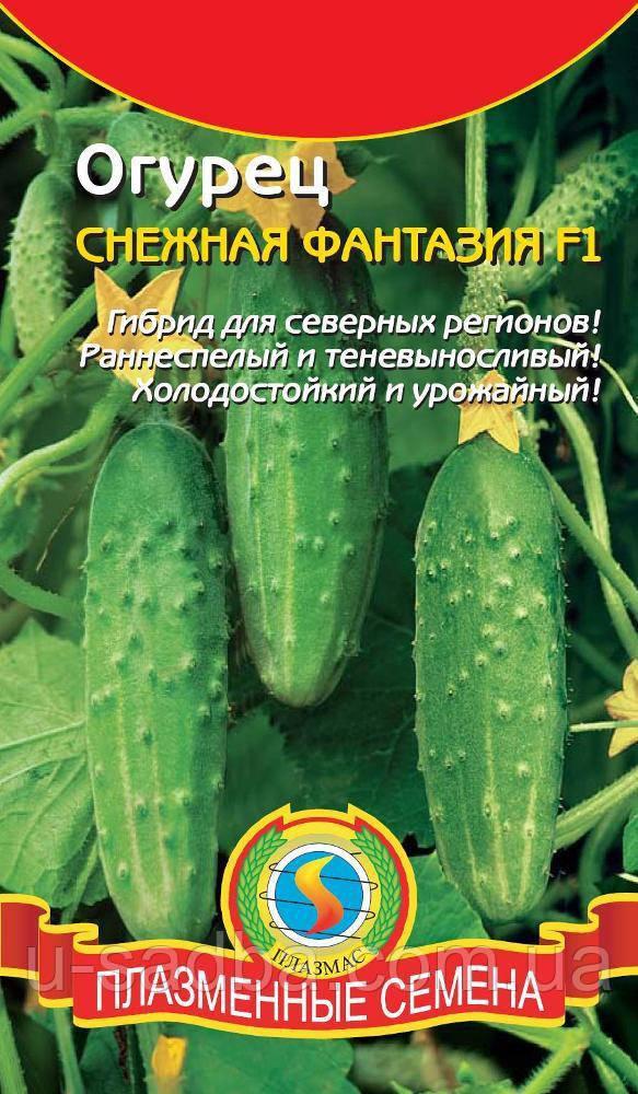 Насіння огірків Огірок Снігова Фантазія F1 8 штук (Плазмові насіння)