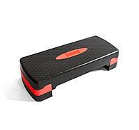 Степ-платформа PowerPlay 4328 (2 рівні 10-15 см) Чорно-червона