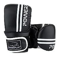 Снарядні рукавички PowerPlay 3025 Чорно-Білі XL, фото 1