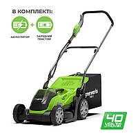 Газонокосарка Greenworks G40LM35K2 (40 В, 2 А*год)
