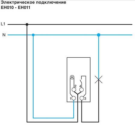 Таймер аналоговый, суточный,16А, 1НО, без резерва хода, 1м (Hager), Франция, фото 2