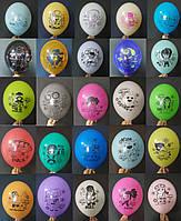 """Кульки повітряні з малюнком З ГЕЛІЄМ поштучно """"Бравл Старс/Битва зірок (Багато героїв)"""" 12"""" (30см) (асорті)"""