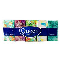 Сухие салфетки Queen, 10х10 шт., фото 1