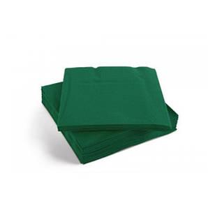 Салфетка бумажная 2-х слойная 16,5х16,5/33х33 см., 50 шт/уп темно-зеленая Decor, SILKEN