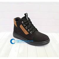 Демісезонні черевики на шнурках резинках Tutubi