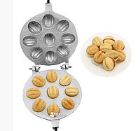Форма для выпечки крупных орешков со сгущенкой (9 половинок крупных орехов)