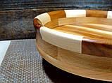 Деревянная тарелка ручной работы,сегментная ,карагач.явор..бук, фото 7