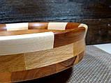 Деревянная тарелка ручной работы,сегментная ,карагач.явор..бук, фото 4