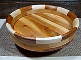 Деревянная тарелка ручной работы,сегментная ,карагач.явор..бук, фото 2
