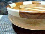 Деревянная тарелка ручной работы,сегментная ,карагач.явор..бук, фото 8