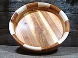 Деревянная тарелка ручной работы,сегментная ,карагач.явор..бук, фото 9