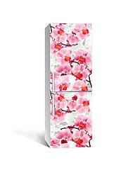 Наклейка на холодильник Zatarga «Дерево орхидей» 650х2000 мм виниловая 3Д наклейка декор на кухню