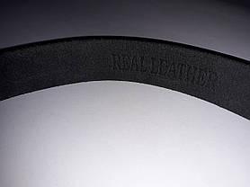 Ремень мужской кожаный черный классический ширина 4 см Р-1104, фото 3