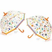 """DJECO Парасолька прозорий змінює колір під дощем """"Особи"""", DD04709"""