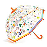 """DJECO Парасолька прозорий змінює колір під дощем """"Особи"""", DD04709, фото 2"""