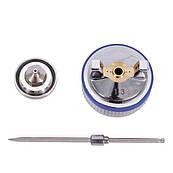 Комплект форсунки 1.3 мм для краскопультів HVLP II PT-0100, РТ-0105, РТ-0105D (дюза, повітряна голов
