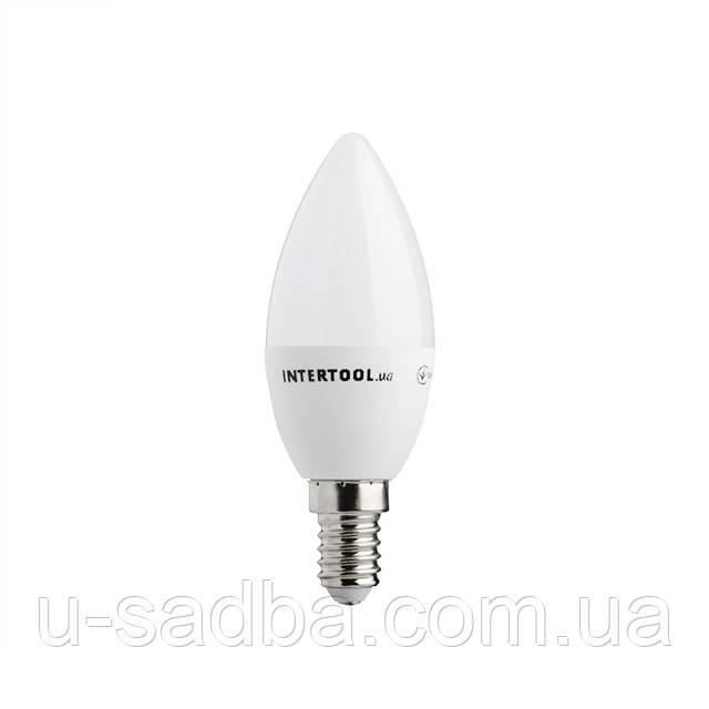 Лампа светодиодная LED C37, E14, 5Вт, 150-300В, 4000K, 30000ч, гарантия 3года. (Свеча)