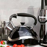 Чайник з нержавіючої сталі зі свистком 3л Edenberg EB-7010 Чайник для індукційної плити Чайник газовий