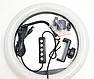 Кільцева світлодіодна лампа разноцыетная LED селфи кільце 33 см, фото 2