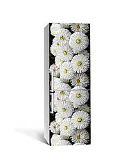 Наклейка на холодильник Zatarga «Белоснежные хризантемы» 650х2000 мм виниловая 3Д наклейка декор на кухню