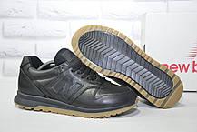 Туфлі чоловічі чорні кросівки натуральна шкіра New Balance