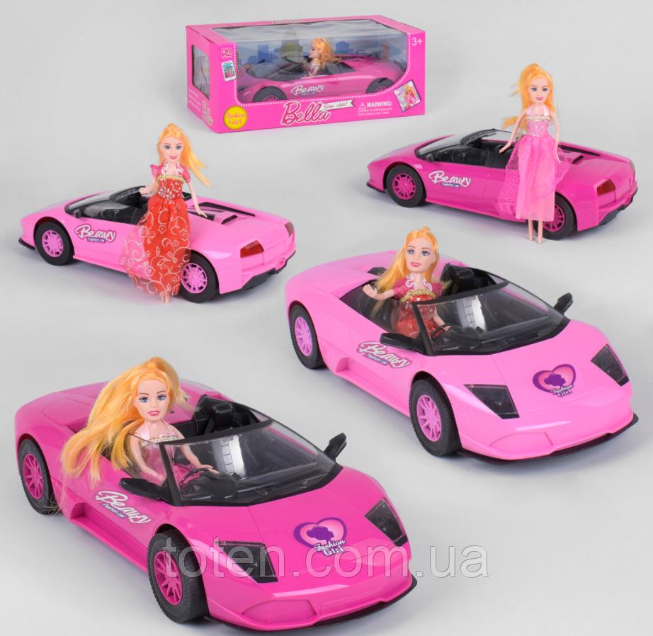 Машинка с куклой  2 вида, инерция, в коробке 1004 ВВ-1