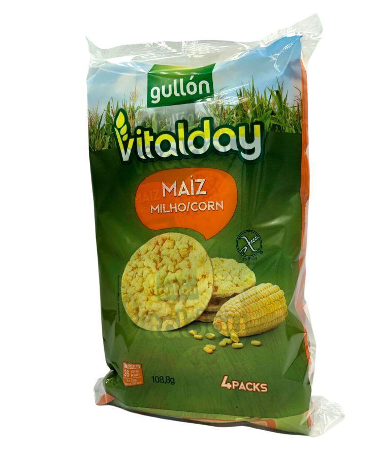 Хлібці GULLON NEW кукурудзяні Tortitas Maiz 108 м, 8 шт/ящ