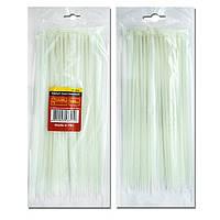 Хомут пластиковый белый (стяжка нейлоновая), 2.5x100 мм