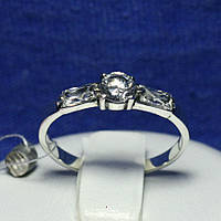 Кольцо серебро с цирконами 1677, фото 1