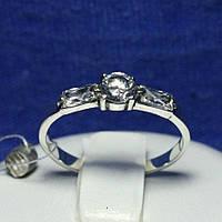 Серебряное кольцо с цирконом прямоугольным 1677, фото 1