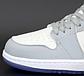 Жіночі кросівки Nike Dior x Jordan 1 high (сірий з білим) жіноча весняна взуття К12269, фото 9