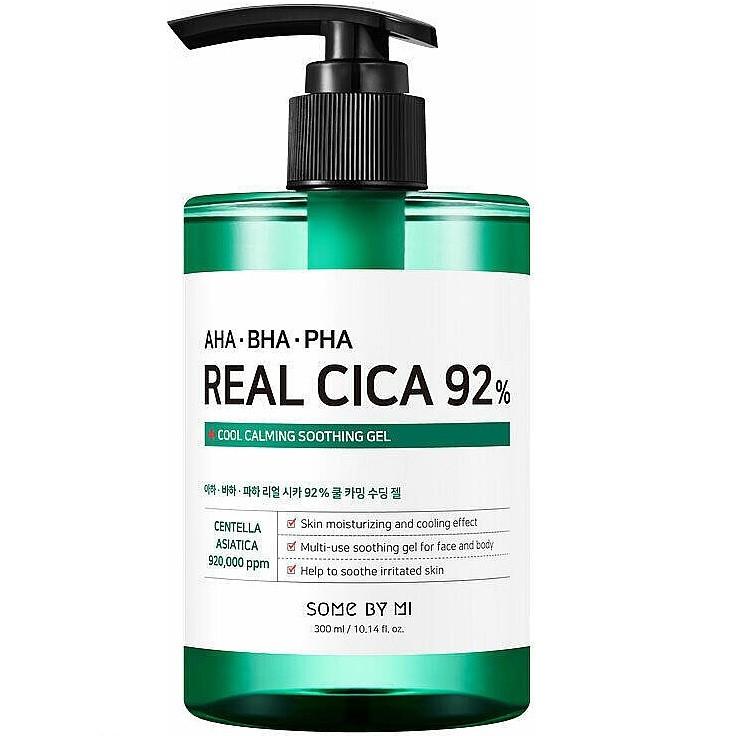 Заспокійливий гель з центеллой азійських BY SOME MI AHA.BHA.PHA Real Cica 92% Cool Calming Soothing Gel 300ml