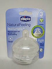 CHICCO Соска NaturalFeeling, 3 мес+,