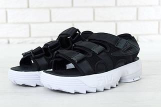 Чоловічі чорні сандалі Fila Disruptor 2