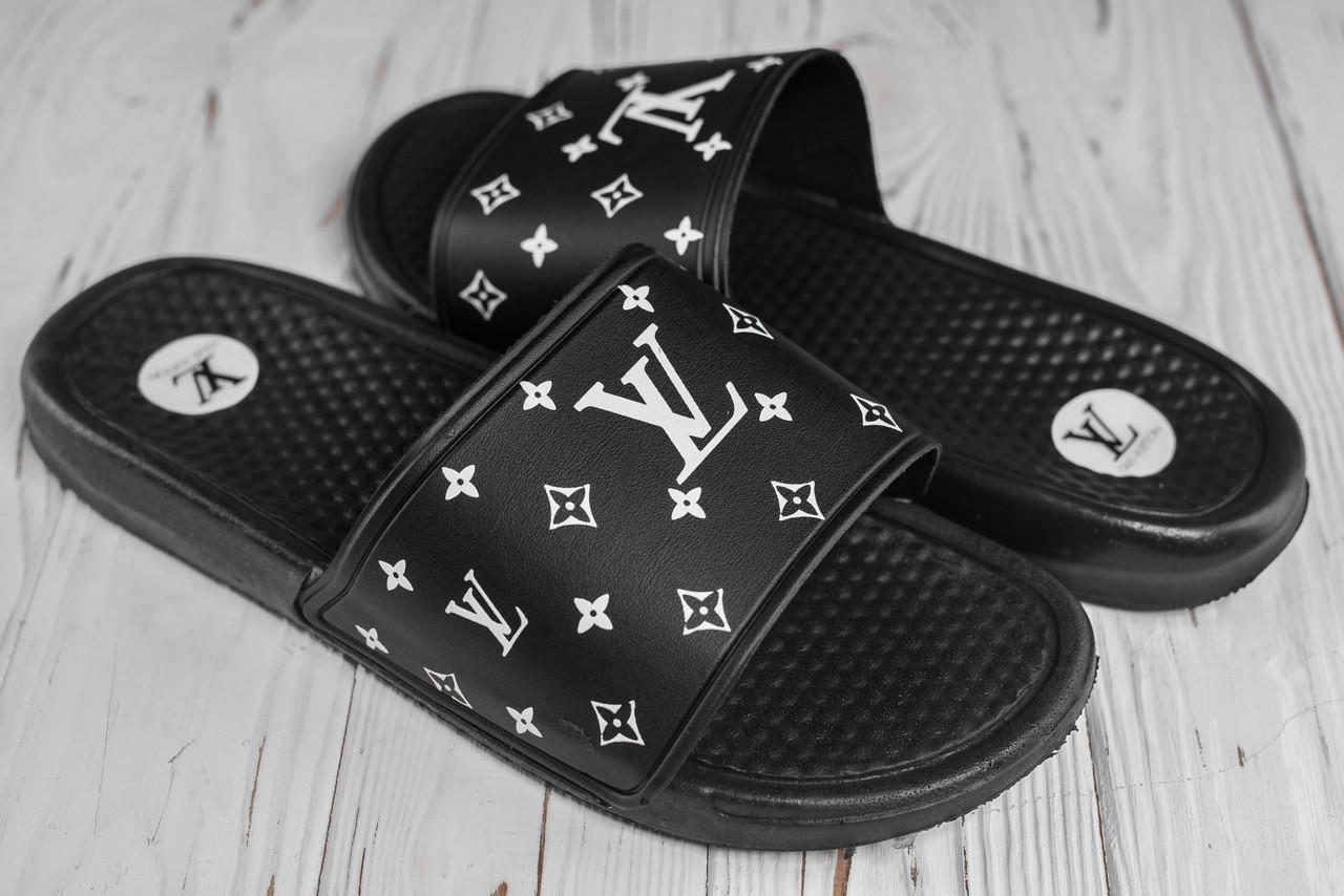 Чоловічі чорні сланці Louis Vuitton