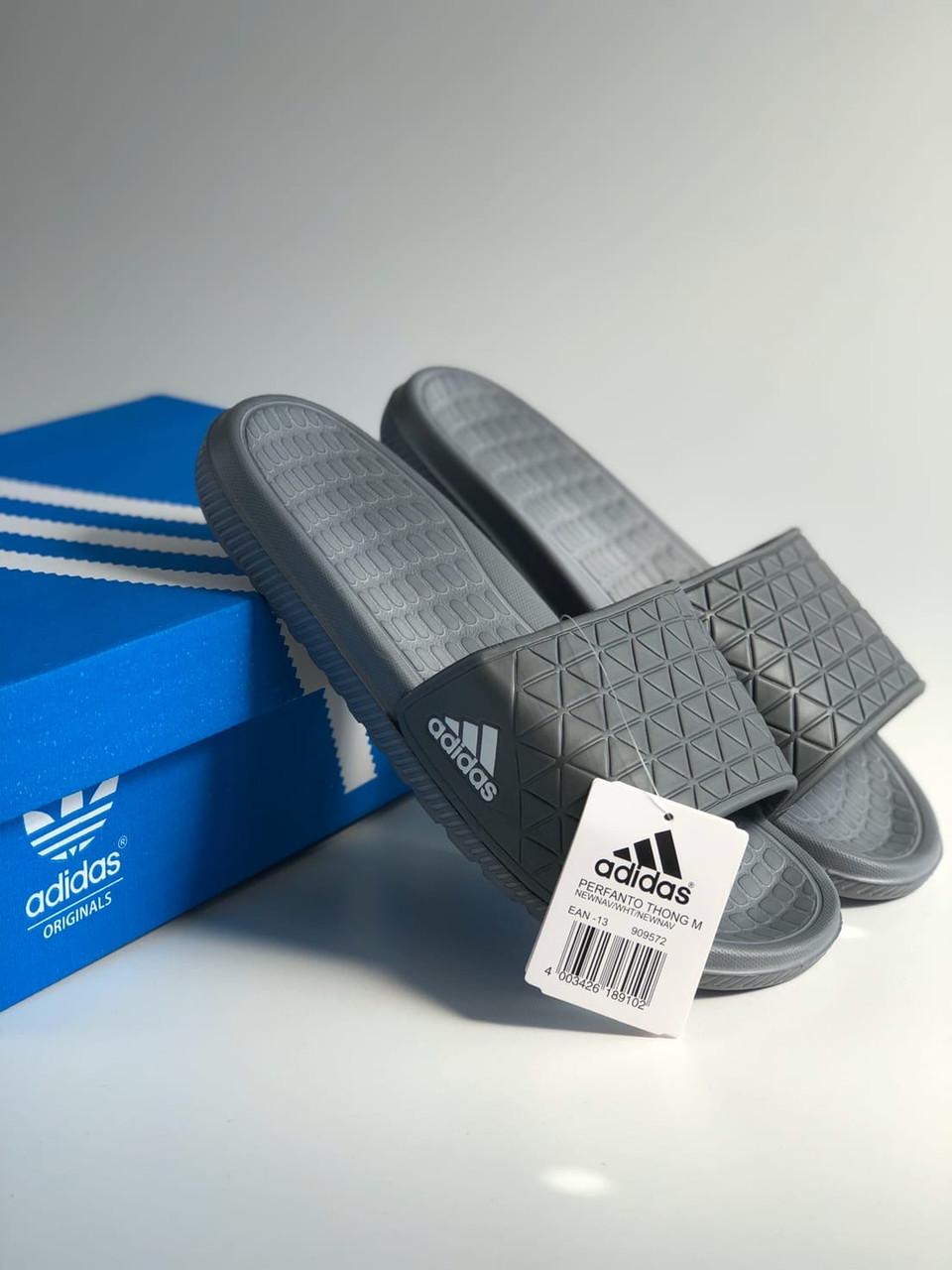Мужские черные сланцы Adidas