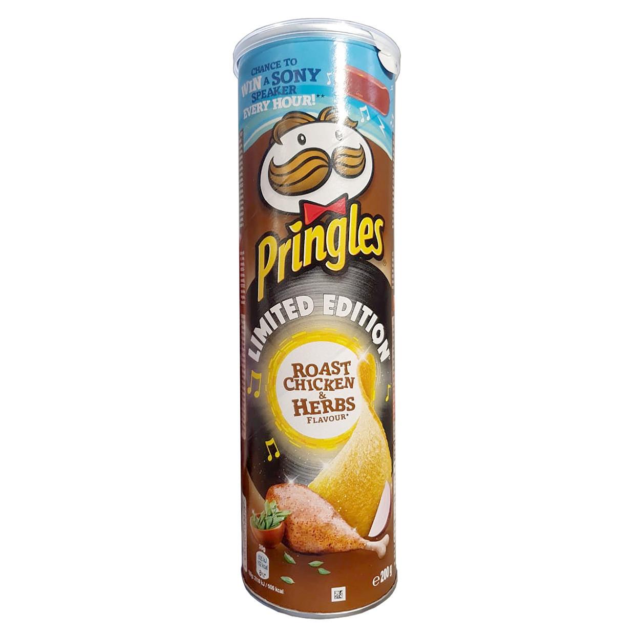 Чіпси Pringles Roast Chicken & Herbs, смажена курка, 200г, 19 шт/ящ