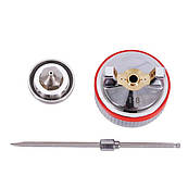 Комплект форсунки 1.8 мм для краскопультів HVLP II PT-0100, РТ-0105, РТ-0105D (дюза, повітряна голов