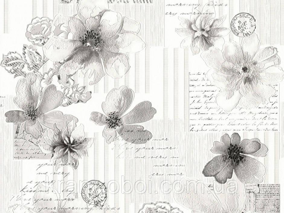 Обои КФТБ виниловые на бумажной основе супер мойка 10 м*0,53 9В49 Письмо 5770-06