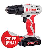 Дриль-шуруповерт акумуляторна Li-Ion 18В INTERTOOL DT-0315