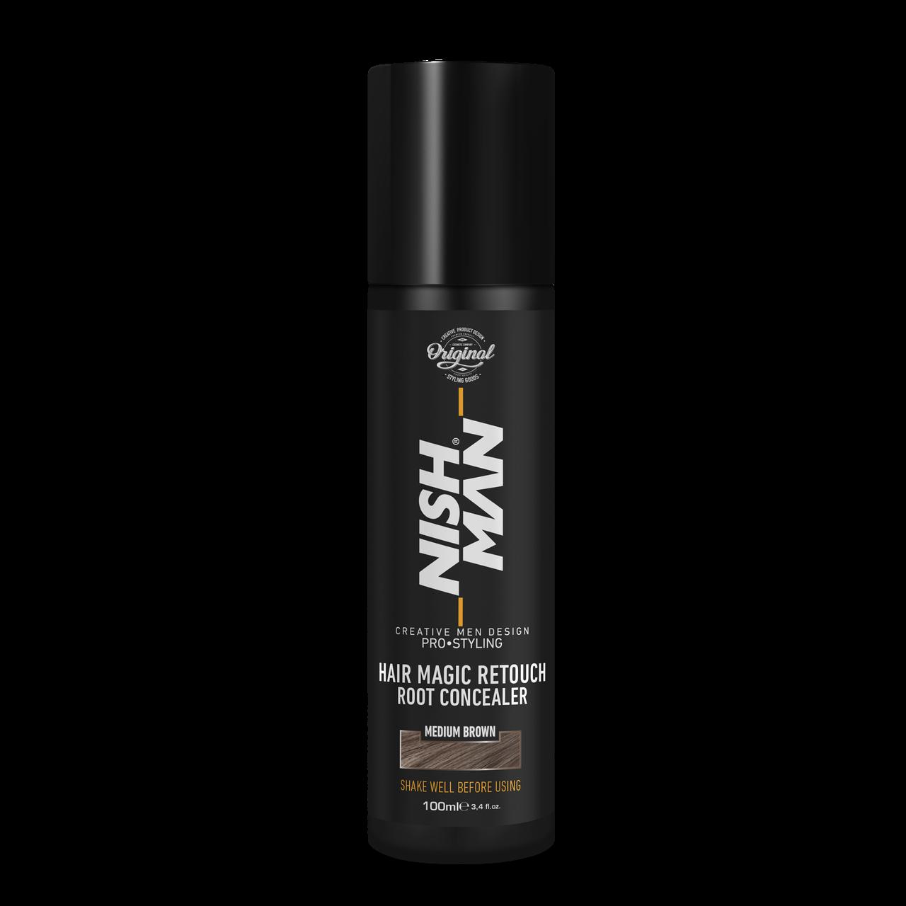 Камуфляж для сивого волосся Nishman Hair Magic Retouch Root Concealer Коричневий