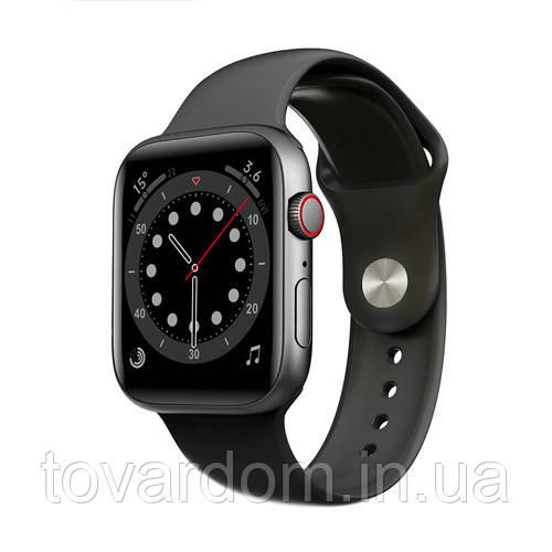 Apl Watch Series 6 M441, 100% копия 44mm Aluminium Черный/Синий