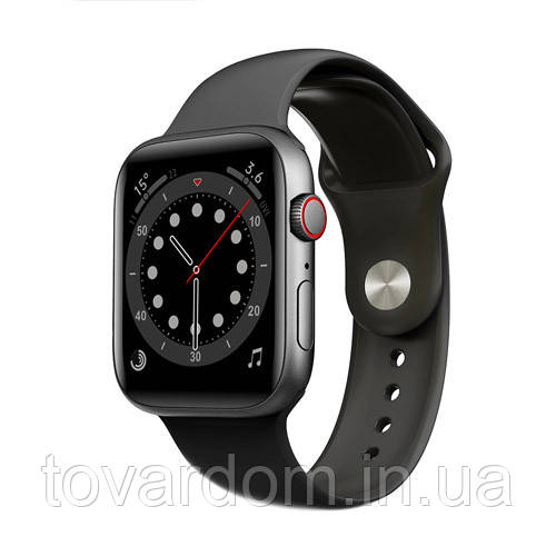 Смарт часы Apl Watch Series 6 M441, 100% копия 44mm Aluminium Черный/Синий