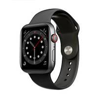 Смарт часы Apl Watch Series 6 M441, 100% копия 44mm Aluminium Черный/Синий, фото 1