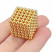 УЦЕНКА! Конструктор-головоломка Neocube 216 шариков Золото (УЦ-№164)