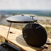 Сковородка из диска бороны 40см  с крышкой и чехлом