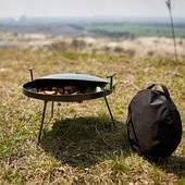 Сковородка из диска бороны 50 см  с крышкой и чехлом толщина метала 7мм