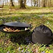 Сковородка из бороны 50 см  с крышкой и чехлом
