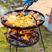 Сковорідка з диска, борони 50 см з підставкою для вогнища