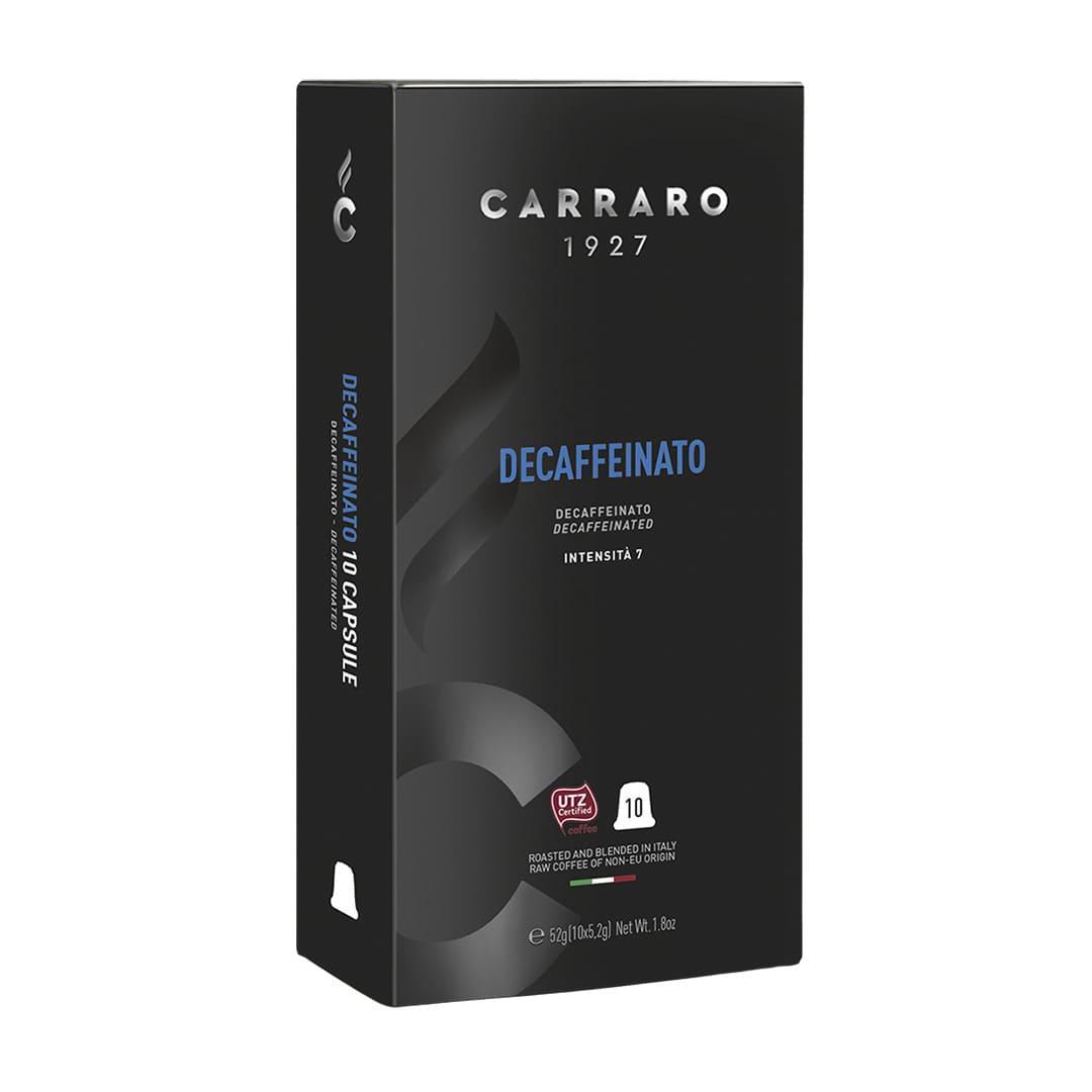 """Кофе в капсулах Carraro """"Decaffienato""""  10 шт."""